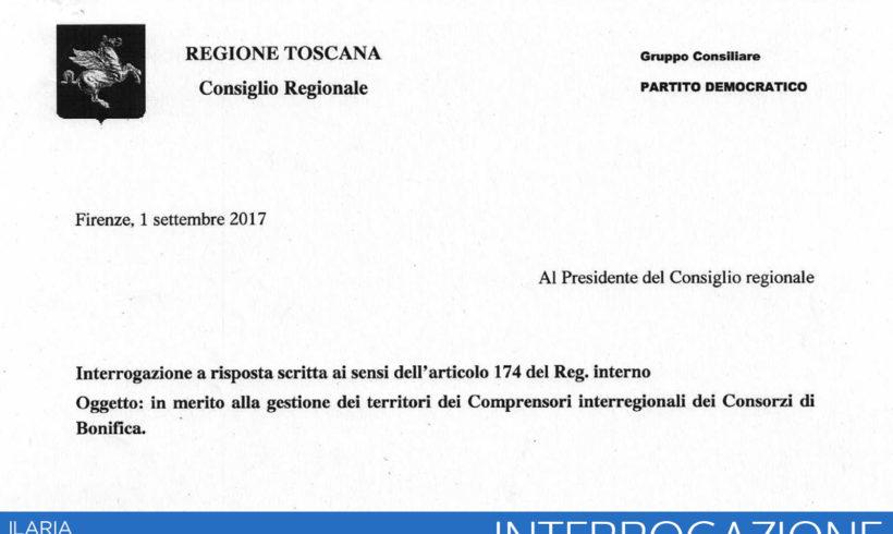 Gestione dei territori dei Comprensori interregionali dei Consorzi di Bonifica