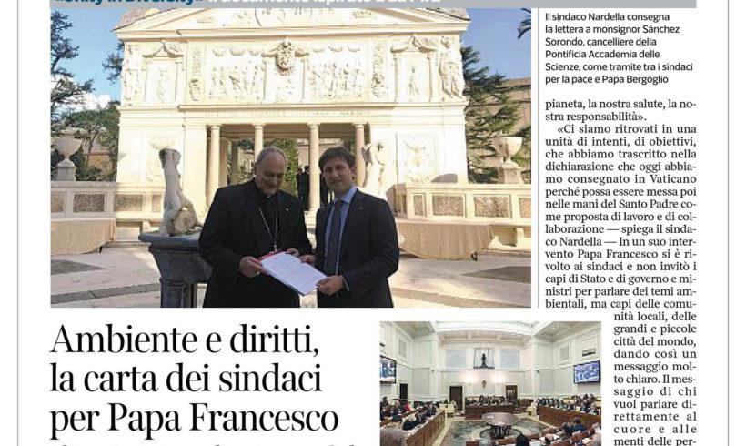 Ambiente e Diritti. La carta dei sindaci per Papa Francesco