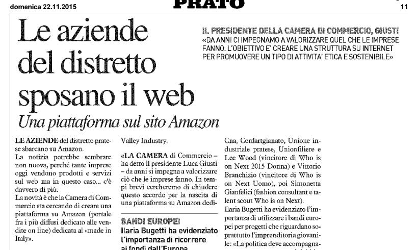 Le aziende del distretto sposano il web