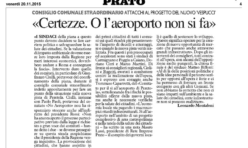 Rassegna stampa 2015.11.20