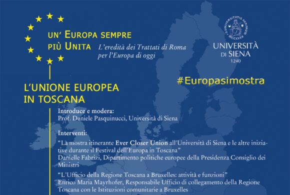 Un'Europa sempre più Unita – 3 Maggio, Siena