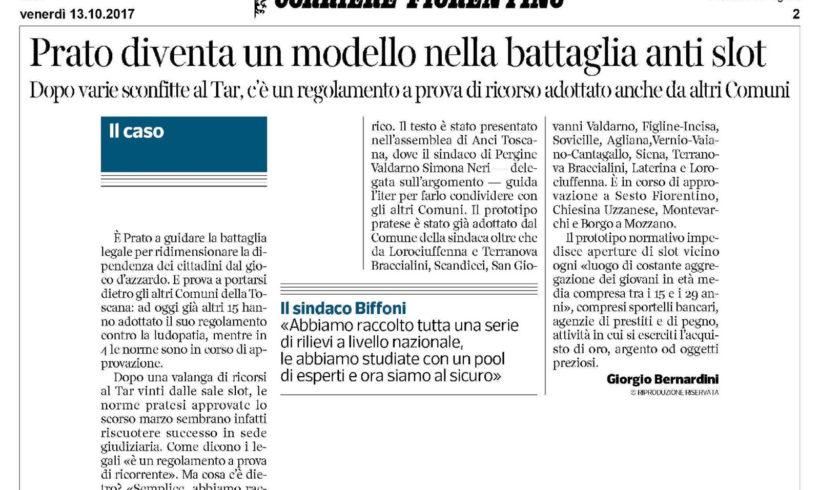 Prato. Un modello nella battaglia anti slot