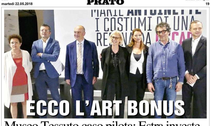 ART BONUS – Museo del Tessuto caso pilota: Estra investe