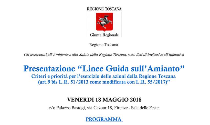 """Presentazione """"Linee Guida sull'Amianto"""""""